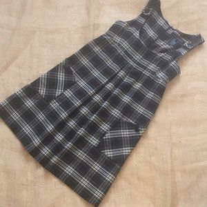 French Connection Plaid Wool Pinafore Dress Sz 4